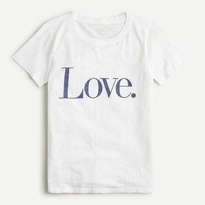 """J. Crew Vintage cotton """"Love"""" T-shirt"""